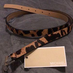 Michael Kors fur belt size large